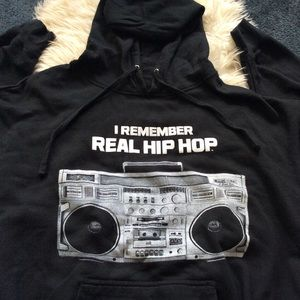 I Remember Real Hip Hop black oversized hoodie